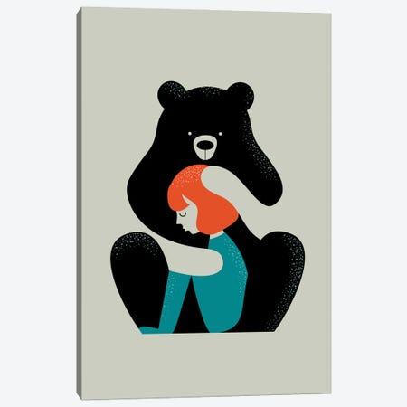 Big Bear Hug Canvas Print #DZL42} by Doozal Canvas Art
