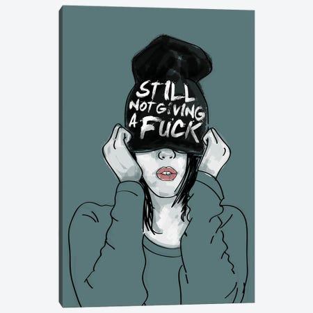 Still Not Giving A Fuck Canvas Print #DZL47} by Doozal Art Print