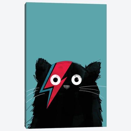 Cat Bowie Canvas Print #DZL4} by Doozal Canvas Art Print