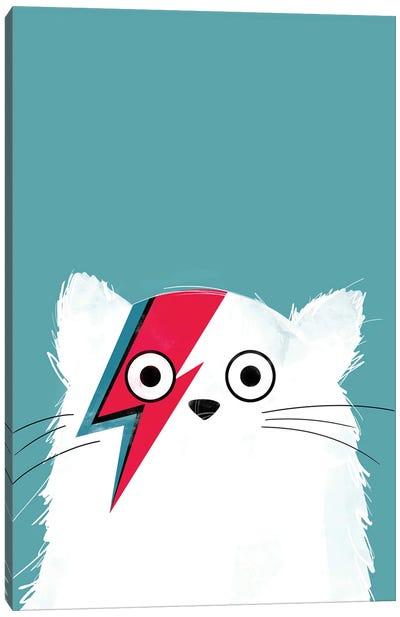 Cat Bowie White Canvas Art Print