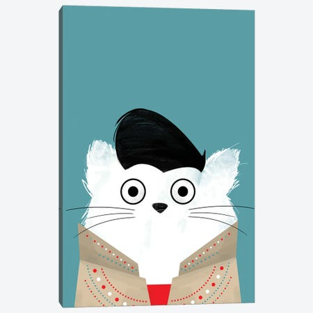 Cat Elvis Canvas Print #DZL8} by Doozal Canvas Artwork