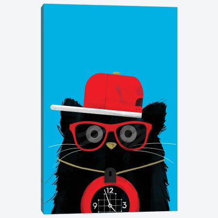 Cat Flavour Flav Canvas Print #DZL9} by Doozal Canvas Wall Art