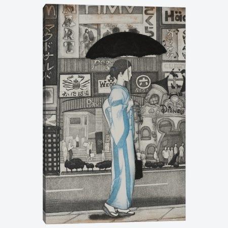 A Girl In Town, 2007 Canvas Print #EAD1} by Emiko Aida Canvas Art