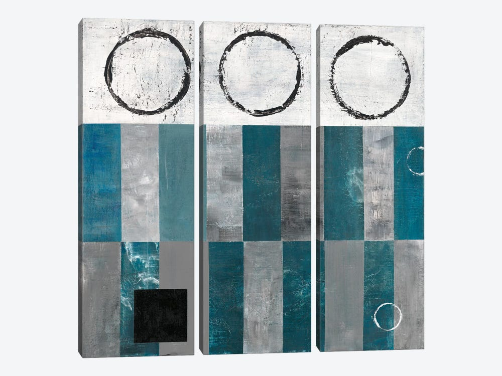 Circle And Square Detail by Earl Kaminsky 3-piece Canvas Art Print