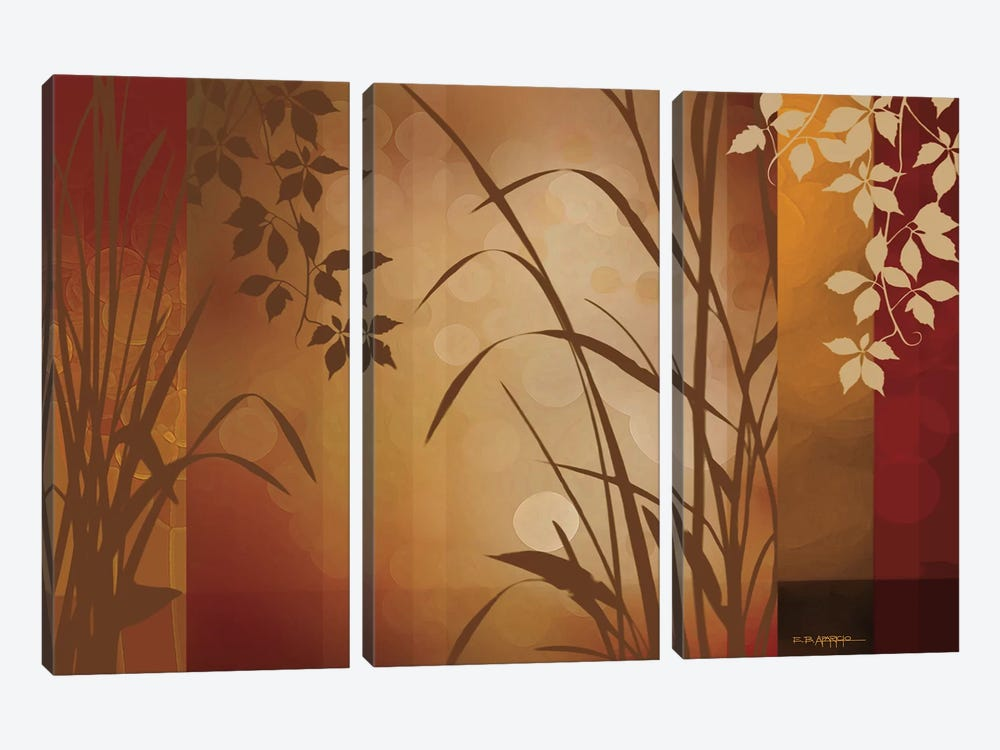 Flaxen Silhouette by Edward Aparicio 3-piece Canvas Artwork