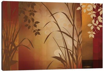 Flaxen Silhouette Canvas Art Print
