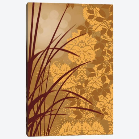Golden Flourish I Canvas Print #EAP14} by Edward Aparicio Canvas Wall Art