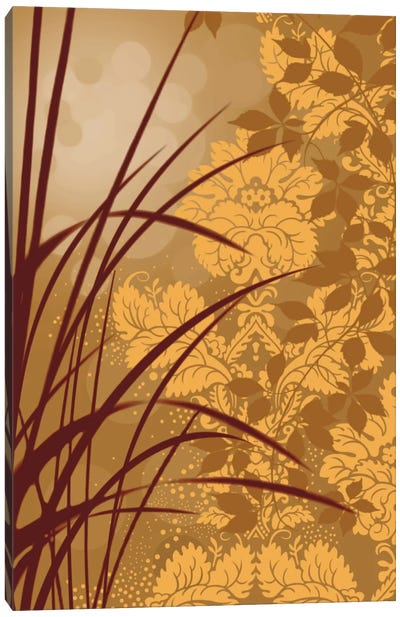 Golden Flourish I Canvas Art Print