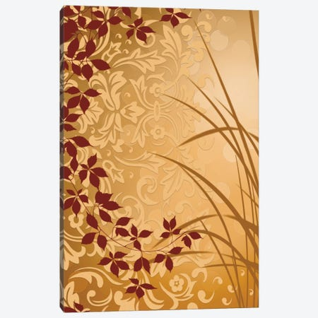 Golden Flourish II Canvas Print #EAP15} by Edward Aparicio Canvas Wall Art
