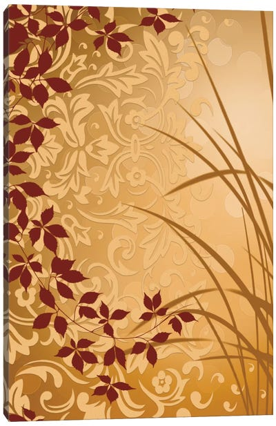 Golden Flourish II Canvas Art Print