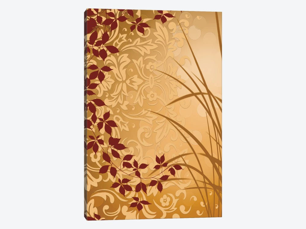 Golden Flourish II by Edward Aparicio 1-piece Canvas Art Print