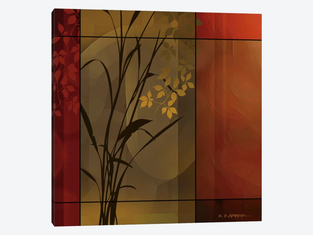 Floral Warmth by Edward Aparicio 1-piece Canvas Wall Art