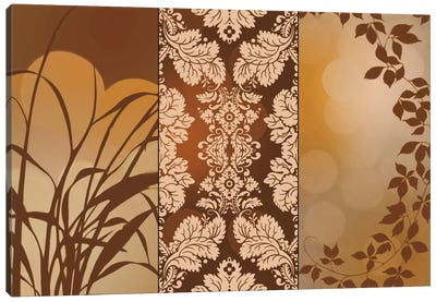 Bronze Filigree Canvas Art Print