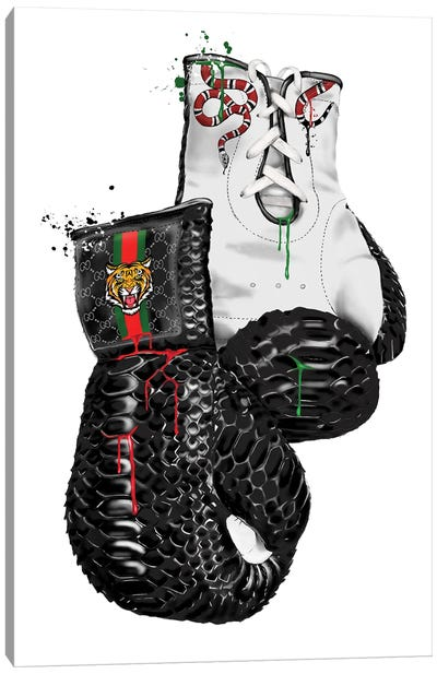 Gucci Animal Boxing Gloves Canvas Art Print