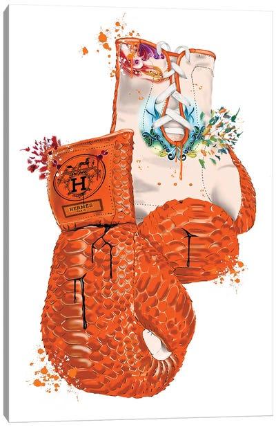 Hermes Boxing Gloves Canvas Art Print