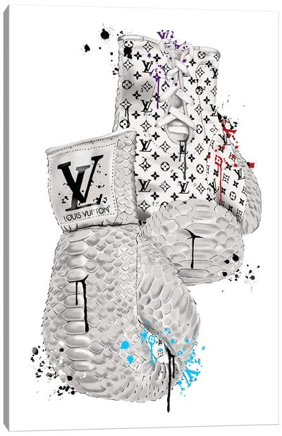 LV Boxing Gloves Canvas Art Print