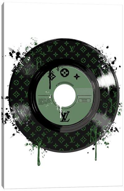 LV Disk Green Canvas Art Print