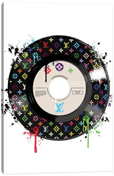 LV Disk Multicolor Canvas Art Print