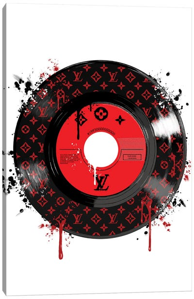 LV Disk Red Canvas Art Print