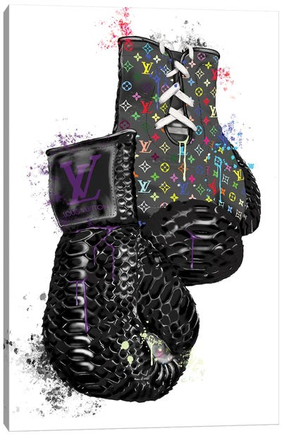 LV Multicolor Boxing Gloves Canvas Art Print