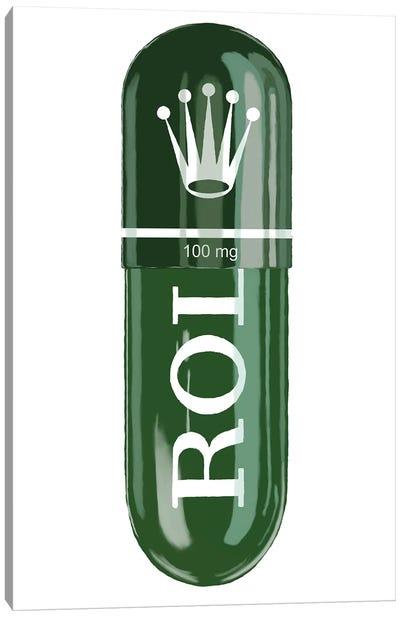 Rolex Green 100MG Canvas Art Print