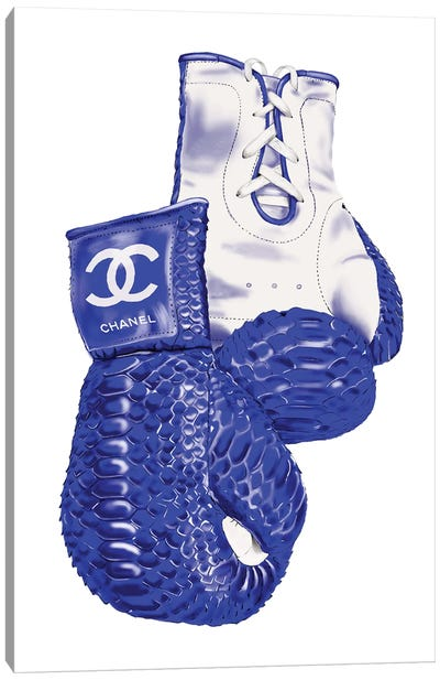 Chanel Blue Boxing Gloves Canvas Art Print