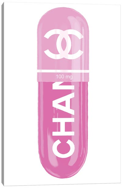 Chanel Pink 100MG Canvas Art Print