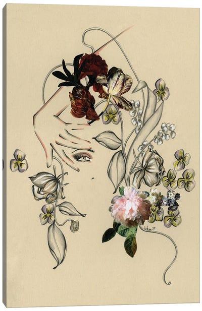 Floral Portrait I Canvas Art Print