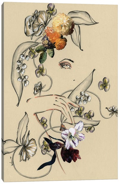 Floral Portrait II Canvas Art Print