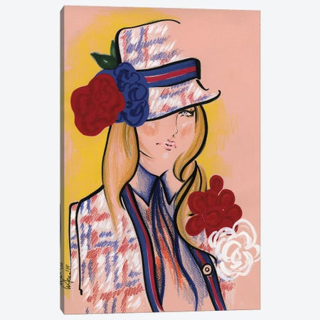 Marc Jacobs Red White & Blue Canvas Print #EAZ16} by Elly Azizian Canvas Wall Art