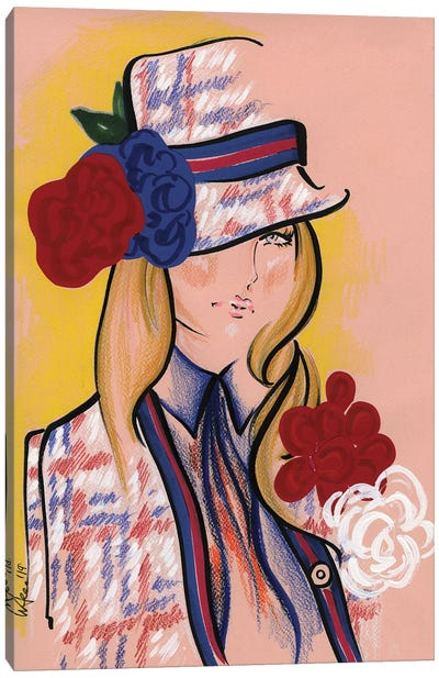 Marc Jacobs Red White & Blue Canvas Art Print