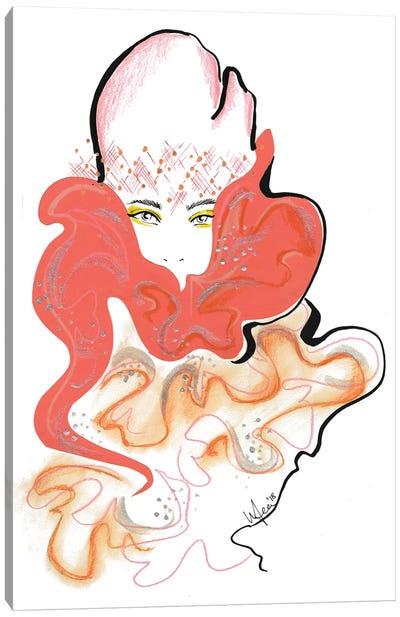 Marc Jacobs Peach Canvas Art Print