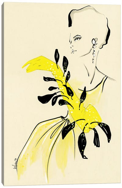 Schiaparelli Couture Collage Yellow Canvas Art Print