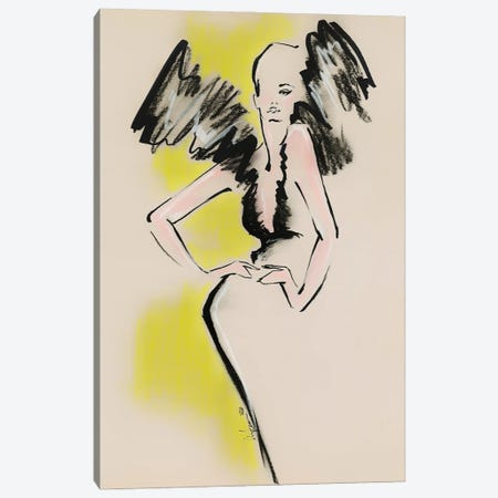 Schiaparelli Haute Couture Silhouette 3-Piece Canvas #EAZ28} by Elly Azizian Canvas Art
