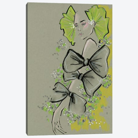 Valentino Bows Canvas Print #EAZ30} by Elly Azizian Canvas Art Print