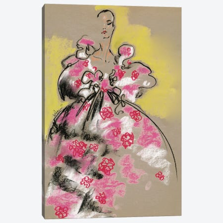 Valentino Pastel Florals 3-Piece Canvas #EAZ31} by Elly Azizian Art Print