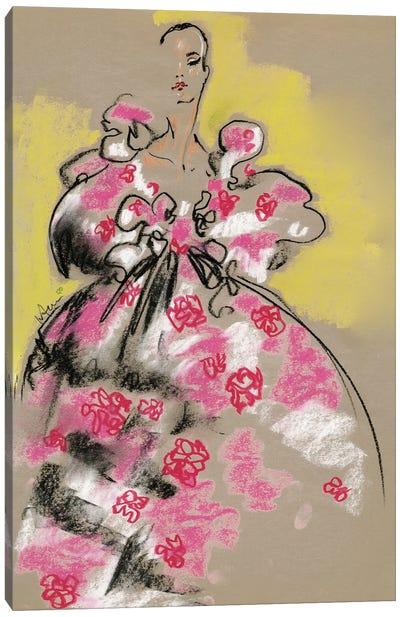 Valentino Pastel Florals Canvas Art Print