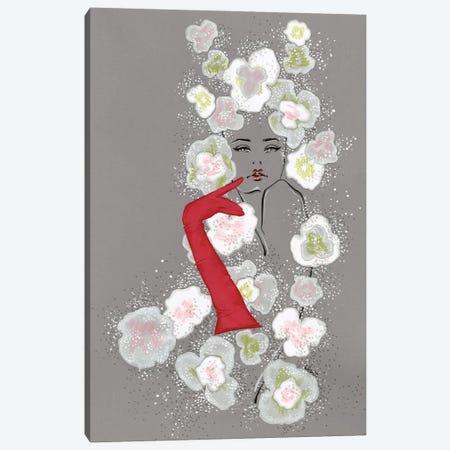 Valentino Haute Couture Florals 3-Piece Canvas #EAZ32} by Elly Azizian Art Print