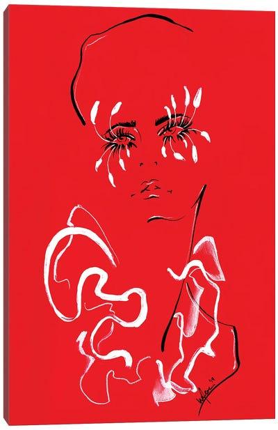 Valentino Red Canvas Art Print