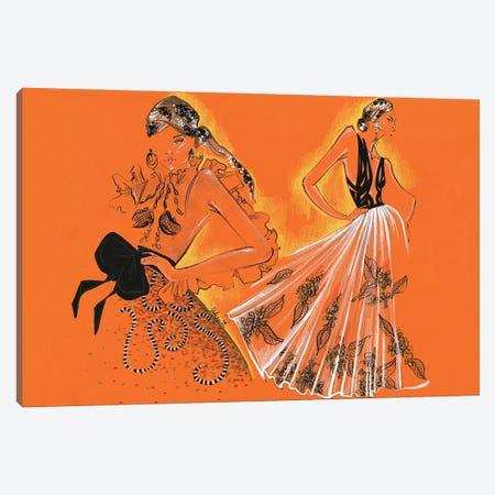 Yolancris Haute Couture 3-Piece Canvas #EAZ36} by Elly Azizian Canvas Wall Art