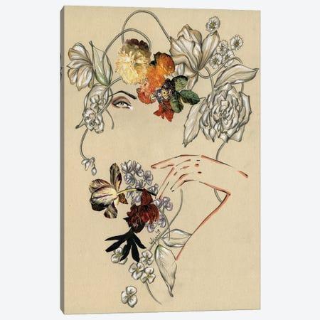 Floral Portrait III Canvas Print #EAZ39} by Elly Azizian Canvas Print