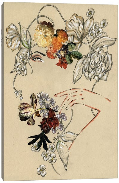 Floral Portrait III Canvas Art Print