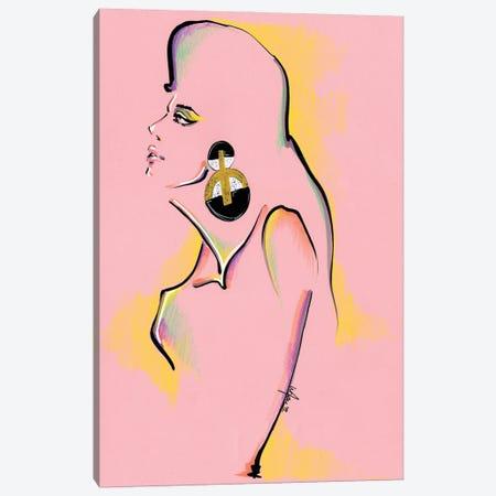 Pink Portrait Collage Canvas Print #EAZ3} by Elly Azizian Canvas Art Print