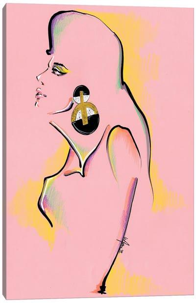 Pink Portrait Collage Canvas Art Print