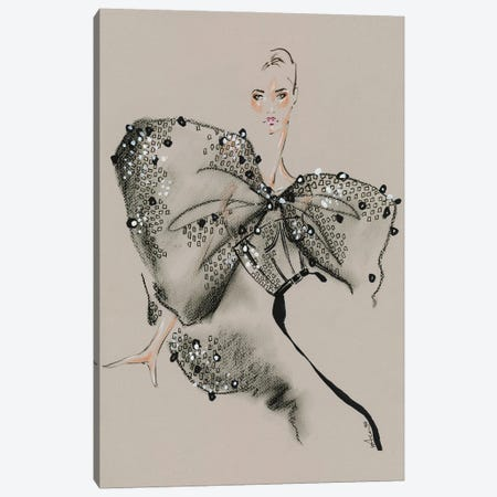 Givenchy Haute Couture III Canvas Print #EAZ42} by Elly Azizian Canvas Artwork