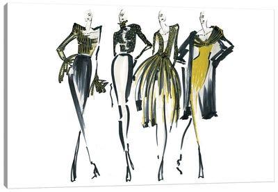 Golden Lineup I Canvas Art Print