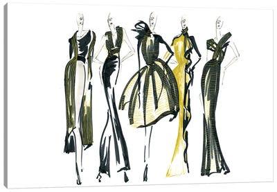 Golden Lineup II Canvas Art Print