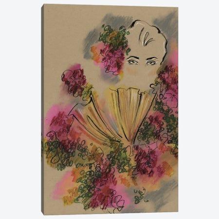 Alexander McQueen Roses Collar Canvas Print #EAZ46} by Elly Azizian Canvas Print