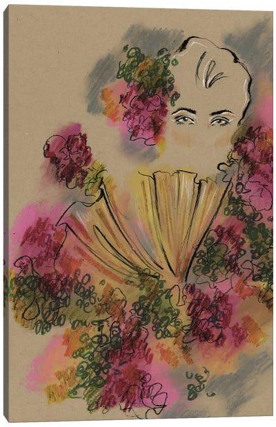Alexander McQueen Roses Collar Canvas Art Print