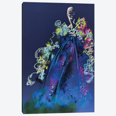 Springtime Pastel Florals Canvas Print #EAZ49} by Elly Azizian Canvas Art
